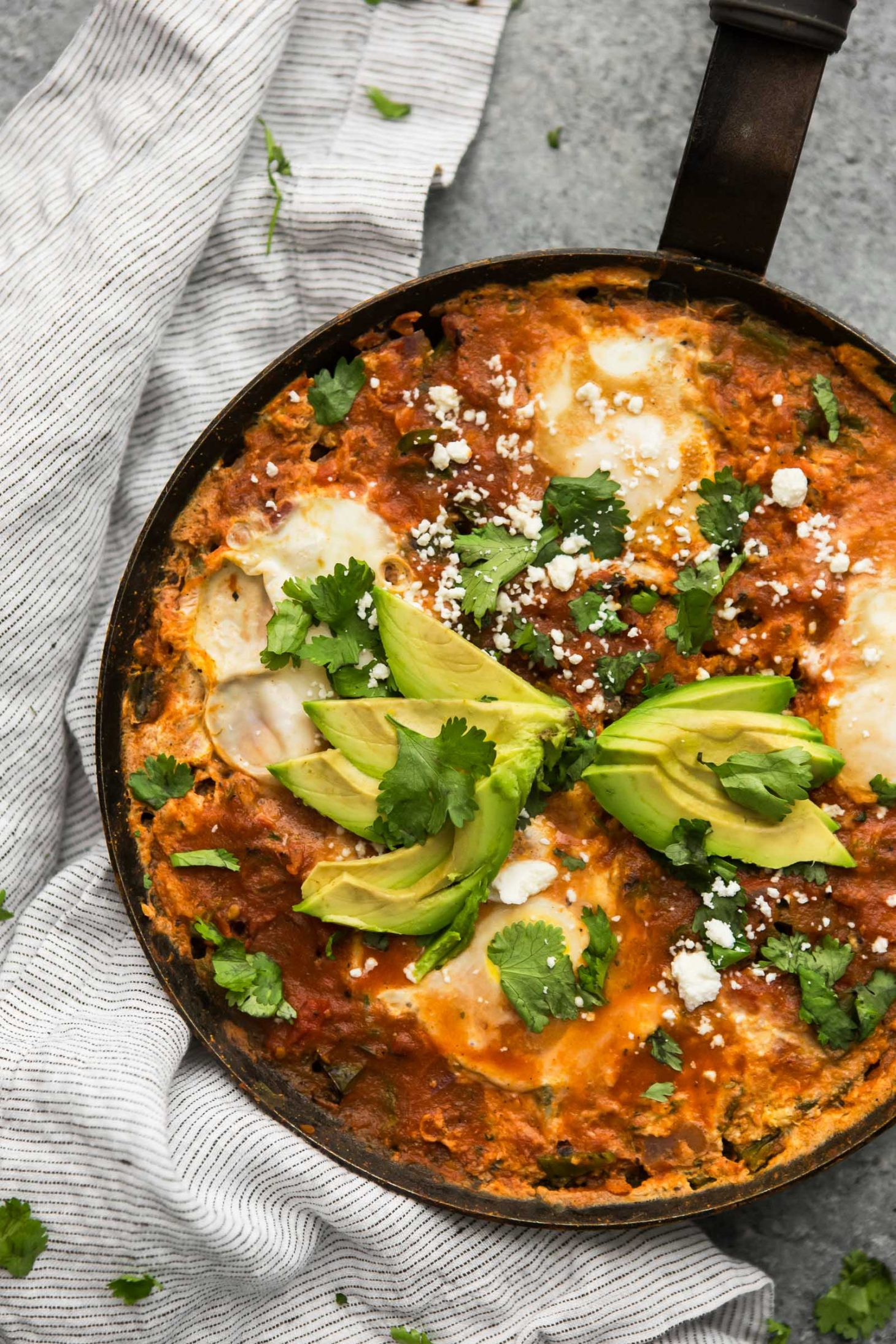 Enchilada Skillet with Eggs | @naturallyella