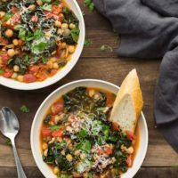 Kale and Chickpea Stew with Tomatoes | @naturallyella