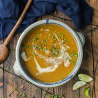 Five-Spice Pumpkin Soup with Parsnips | @naturallyella