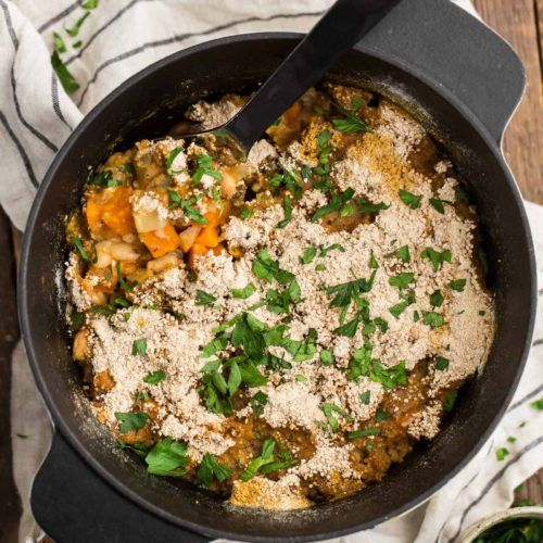 Root Vegetable Cassoulet with Sweet Potatoes | @naturallyella