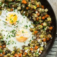 Root Vegetable Hash Egg Skillet