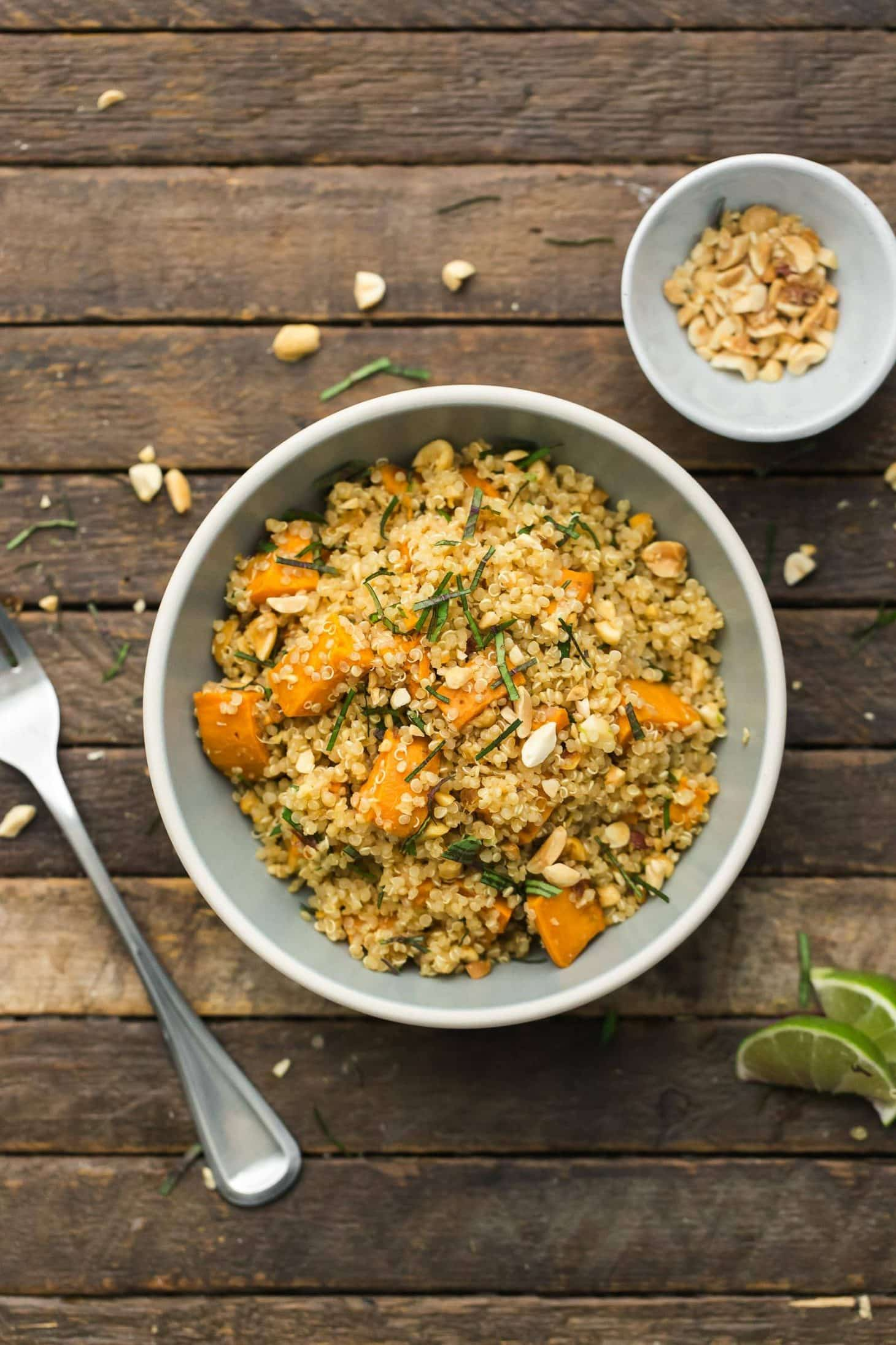Vegan Thai Sweet Potato Quinoa | @naturallyella