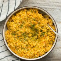 Baked Barley Risotto with Carrots | @naturalyella