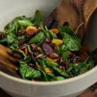 Carrot Salad with Miso-Lemon Dressing | @naturallyella