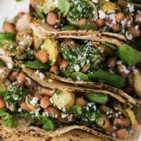 Chimichurri Potato Tacos with Pinto Beans