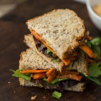Vegan Roasted Carrot Sandwich with Sunflower Cream | @naturallyella