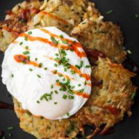 Sunchoke Latkes with Poached Egg