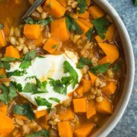 Sweet Potato Barley Stew
