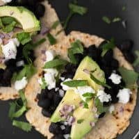Black Bean Tacos with Avocado | @naturallyella