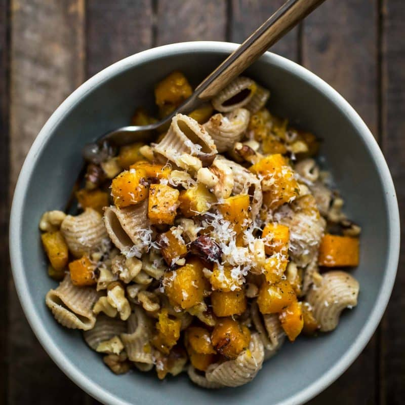 Butter Butternut Squash Pasta with Parmesan   Naturally Ella