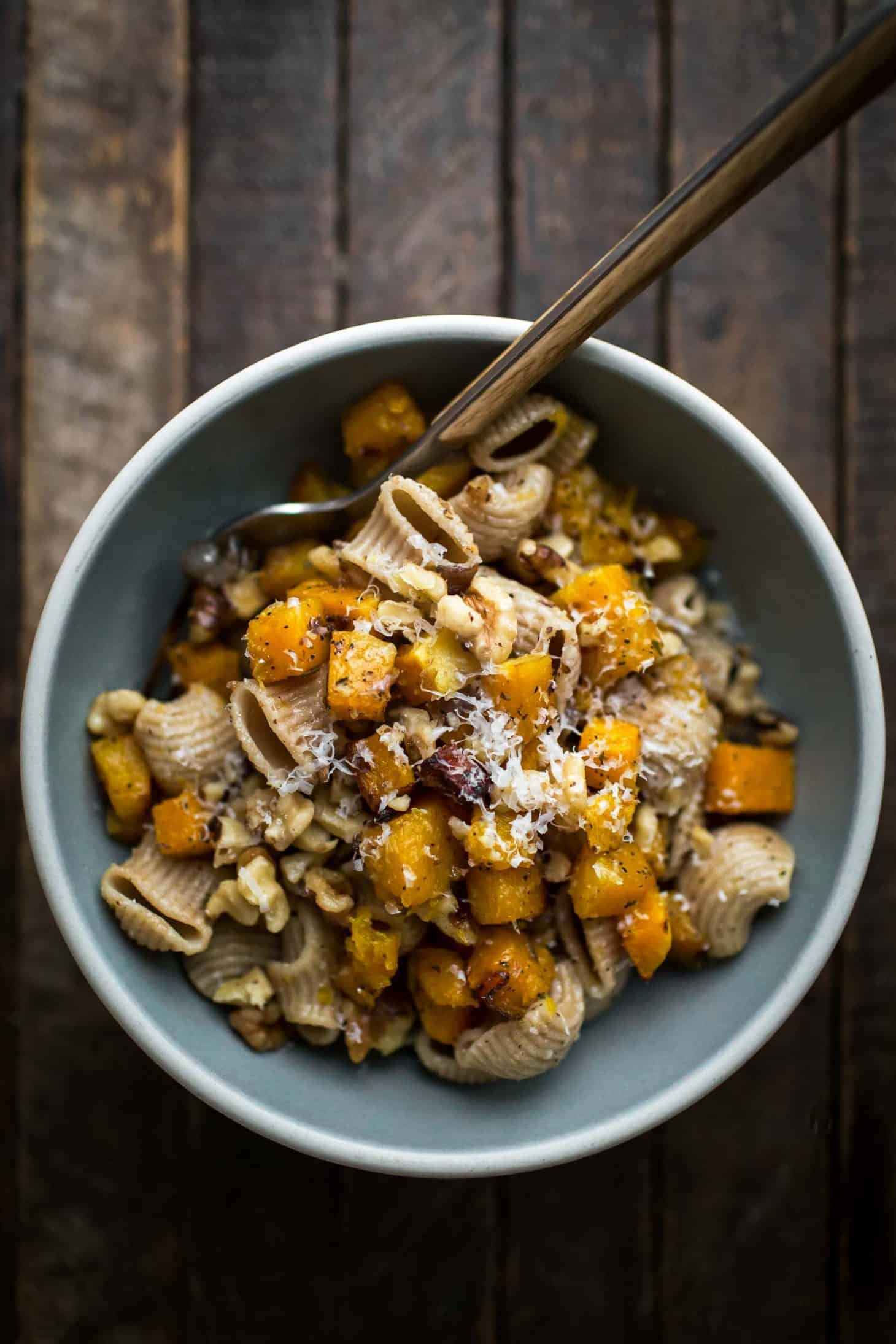 Butter Butternut Squash Pasta with Parmesan | Naturally Ella