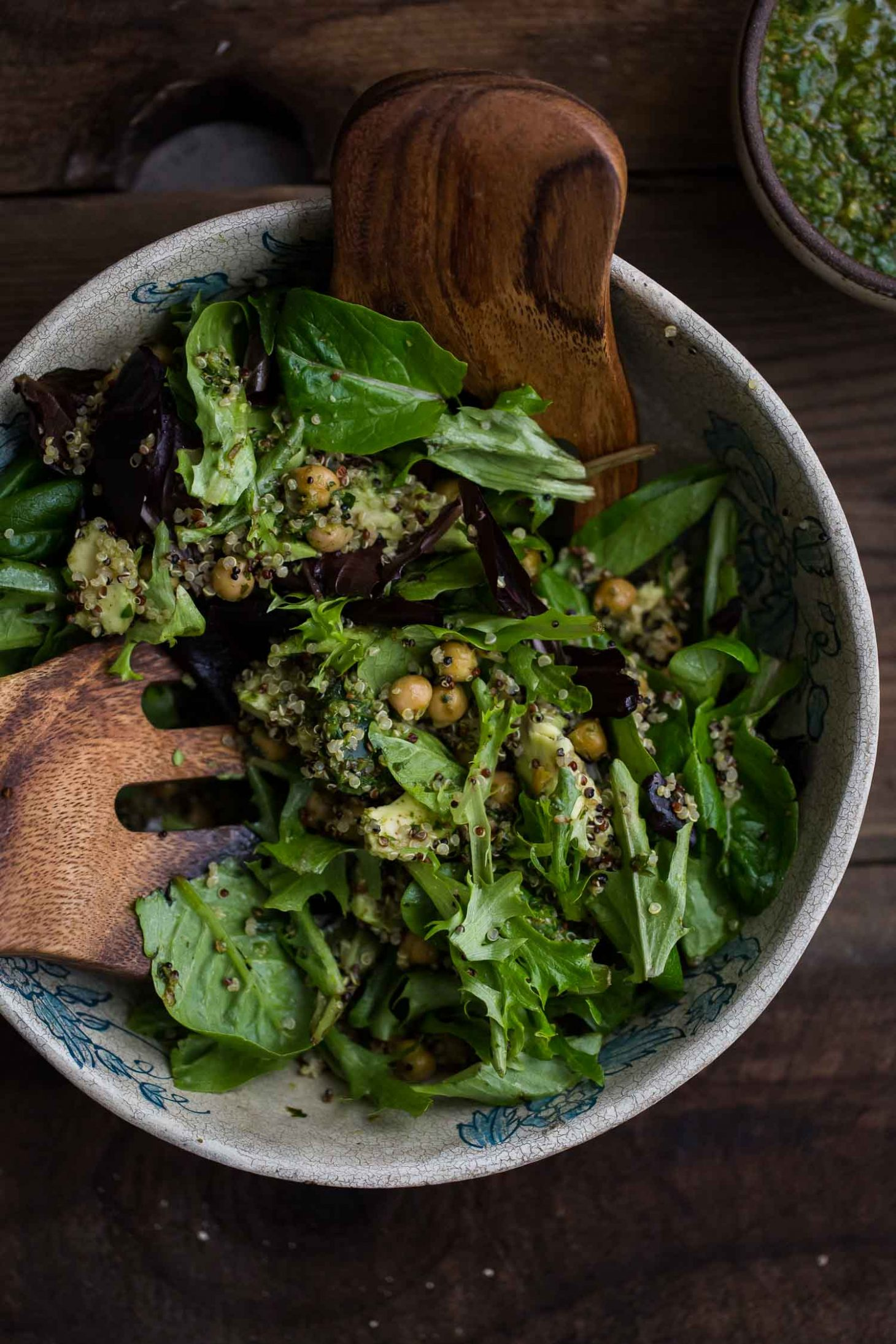 Quinoa Avocado Salad with Harissa Chickpeas