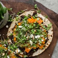 Cilantro Sweet Potato Tostadas
