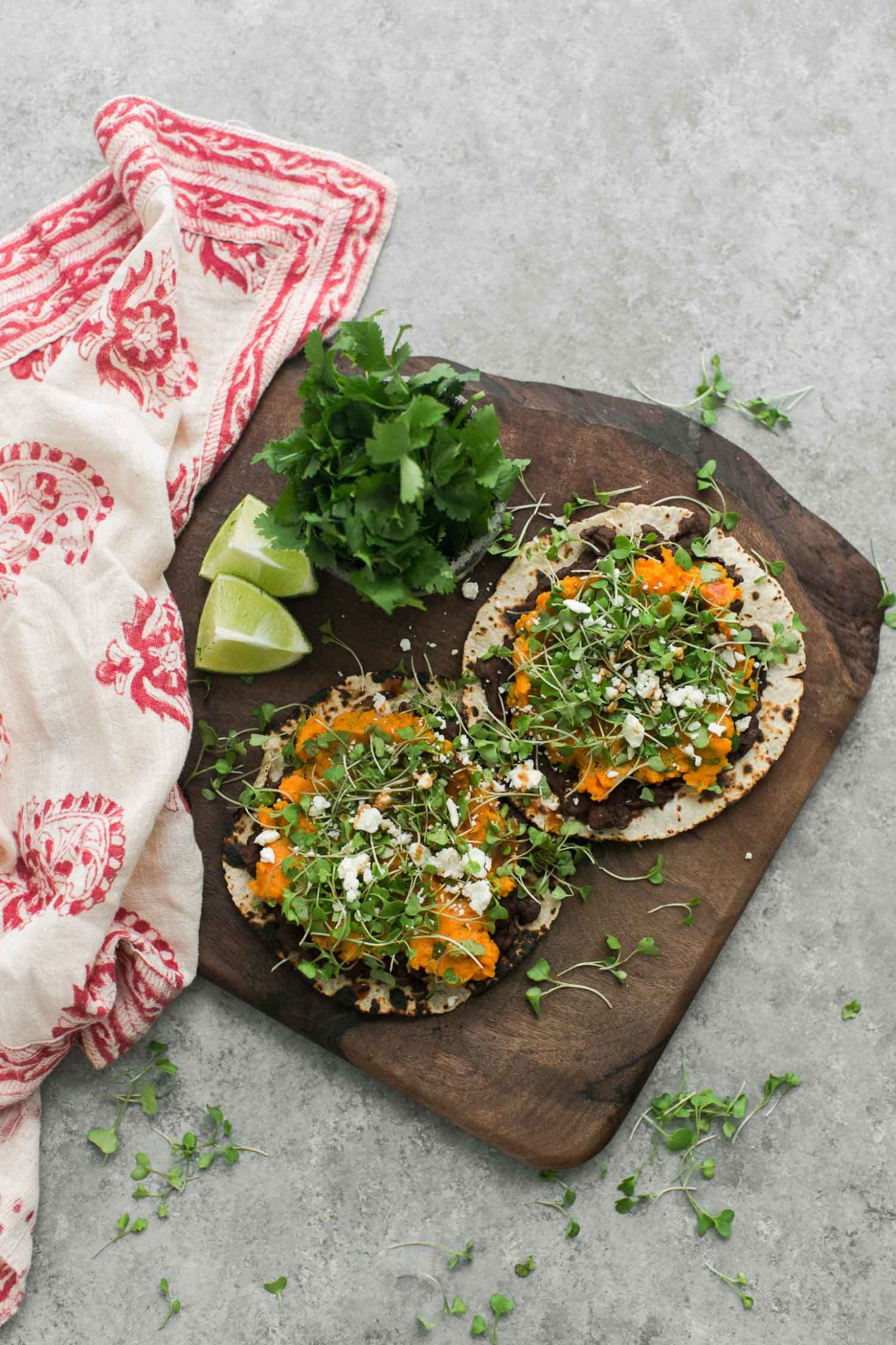 Cilantro Sweet Potato Tostadas | Naturally Ella