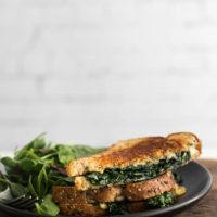 Garlicky Kale Grilled Cheese with Gouda | Naturally Ella