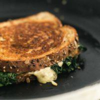 Gouda Grilled Cheese with Garlicky Kale