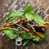Sesame Roasted Carrot Summer Rolls | Naturally Ella
