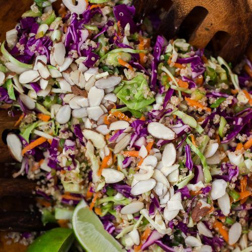 Ginger-Soy Slaw with Quinoa | Naturally Ella