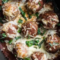 Marinara-Smothered Lentil Bites with Mozzarella