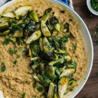 Quinoa and White Bean Risotto with Brassicas