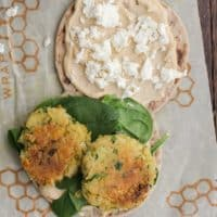 Chickpea Fritter Sandwich with Hummus