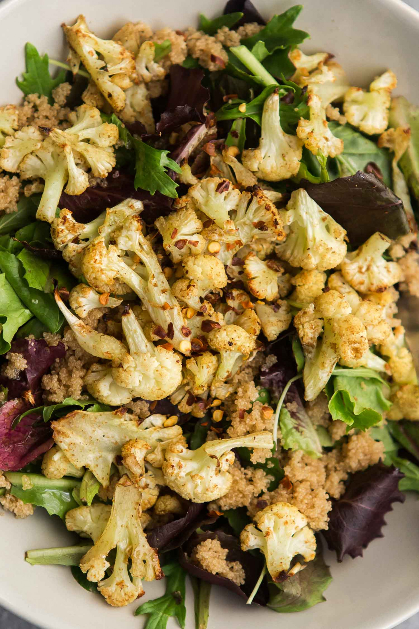 Coriander Cauliflower Amaranth Salad with Lemon Vinaigrette | Naturally Ella