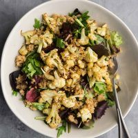 Coriander Cauliflower Amaranth Salad | Naturally Ella