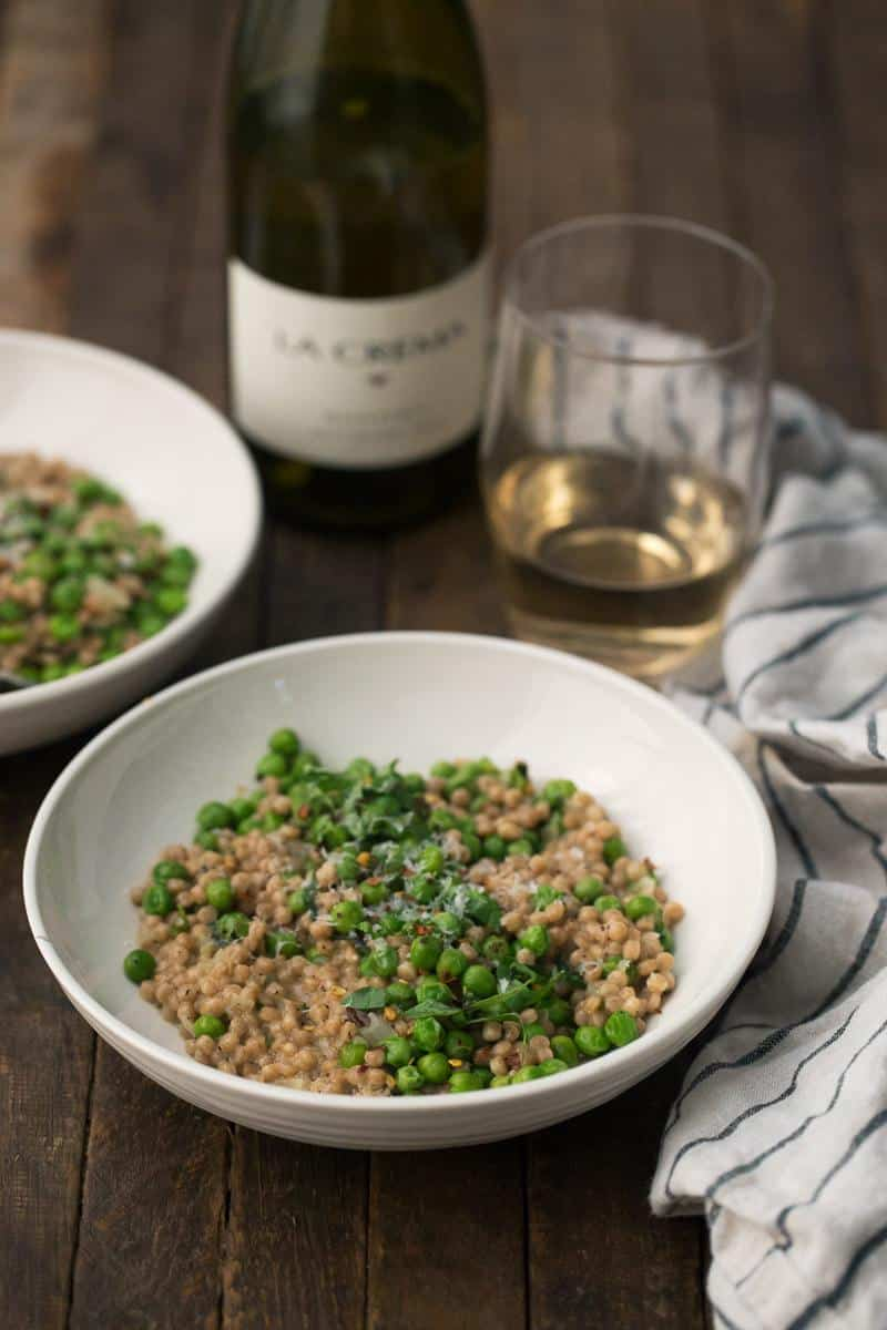 Pea Couscous Risotto with Mascarpone Cheese | Naturally Ella
