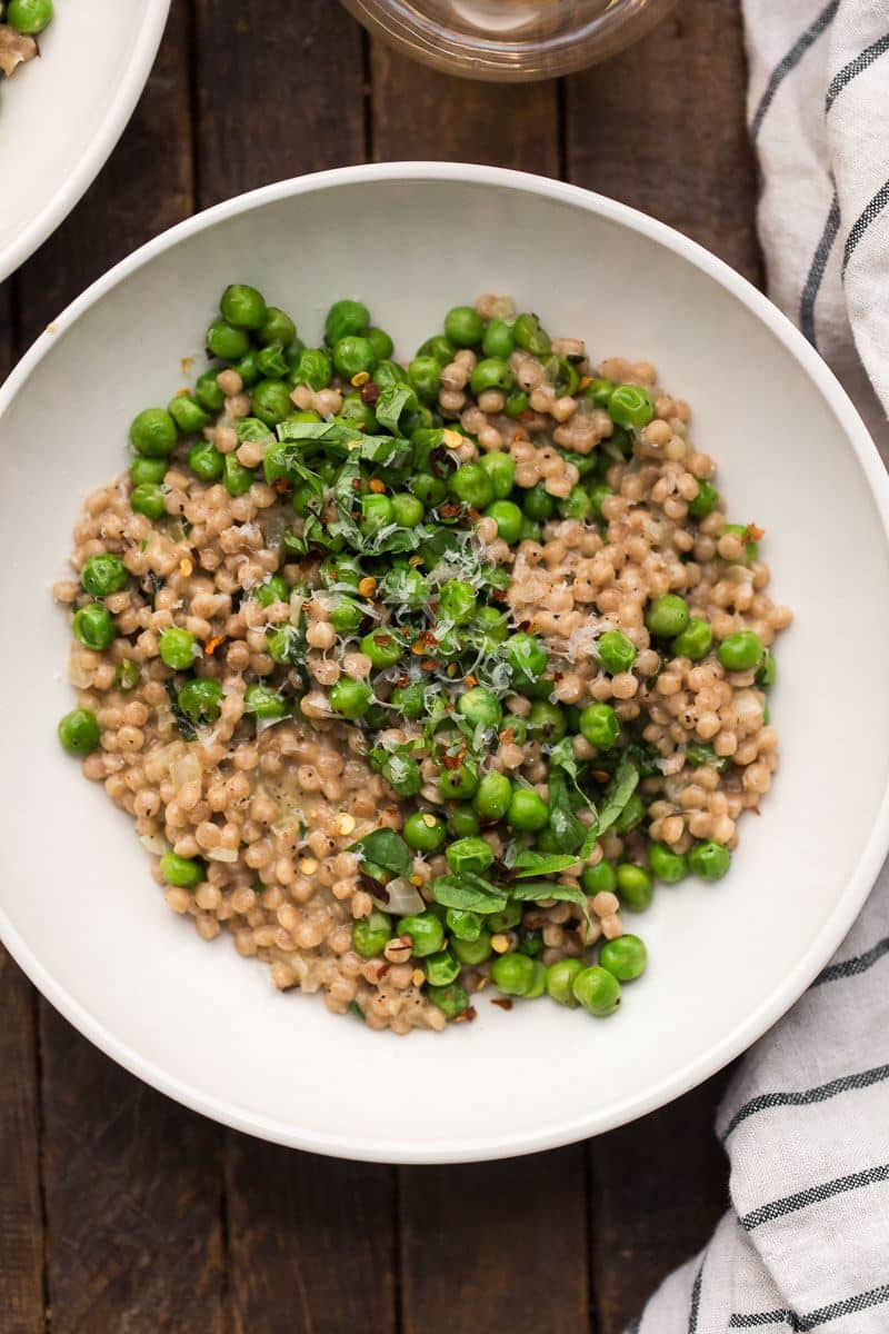 Pea Couscous Risotto | Naturally Ella