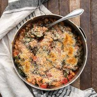 White Bean Chard Bake