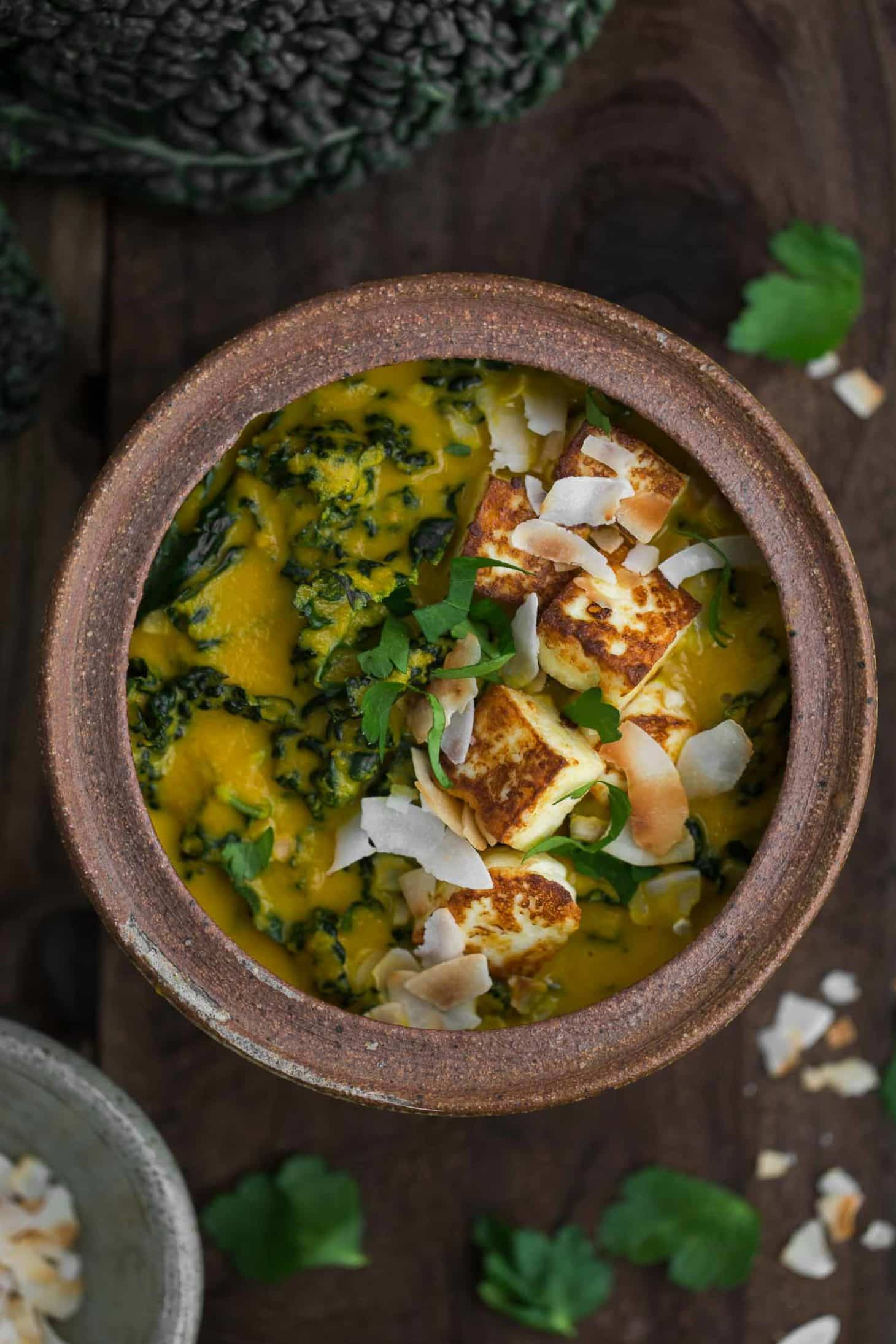 Creamy Carrot Curry with Kale and Paneer | Naturally Ella