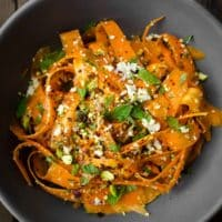 Carrot, Feta & Pistachio Salad with Orange Blossom Toss