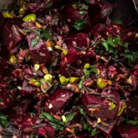 Beet Wild Rice Salad with Pistachios