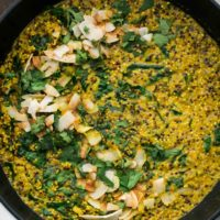Coconut Turmeric Quinoa with Kale
