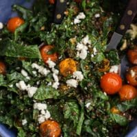 Za'atar Roasted Tomato Salad with Black Lentils