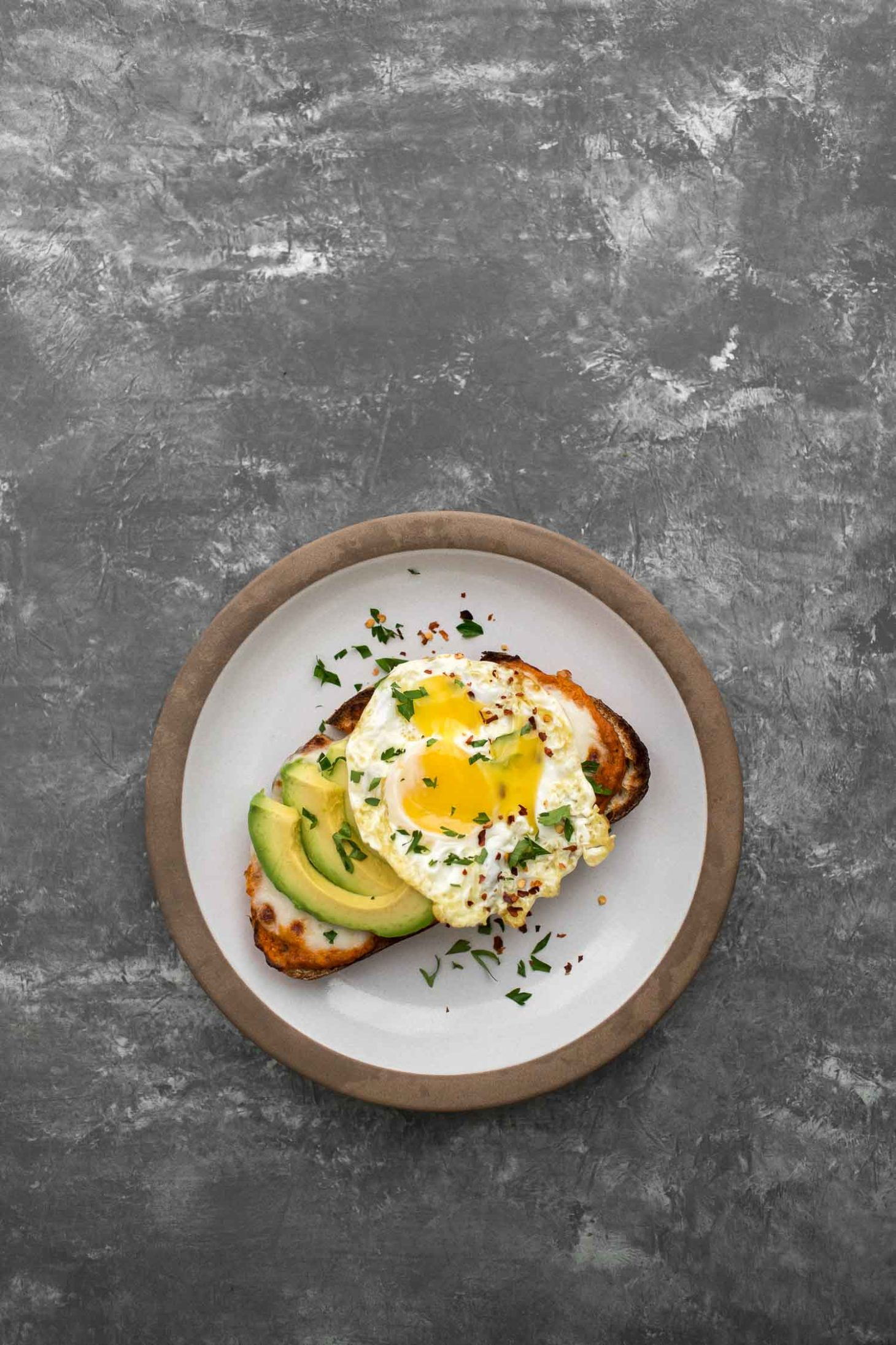 Romesco Toast with Fried Egg | Naturally Ella