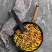 Summer Vegetable Pasta with Chickpeas