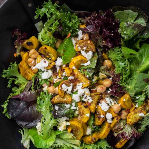 Spiced Yellow Squash Salad with Chickpeas | Naturally ella