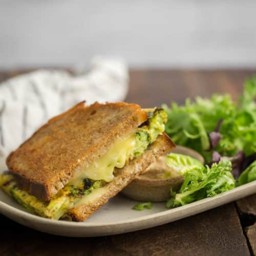 Broccoli Frittata Sandwich | Naturally Ella