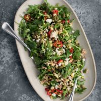 Sweet Corn Couscous Salad with Arugula