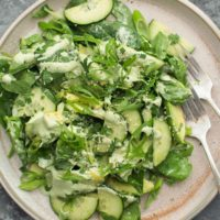 Green Summer Salad with Herby Hemp Dressing