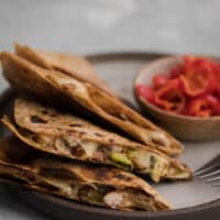Pinto Bean Quesadilla with Spiced Zucchini