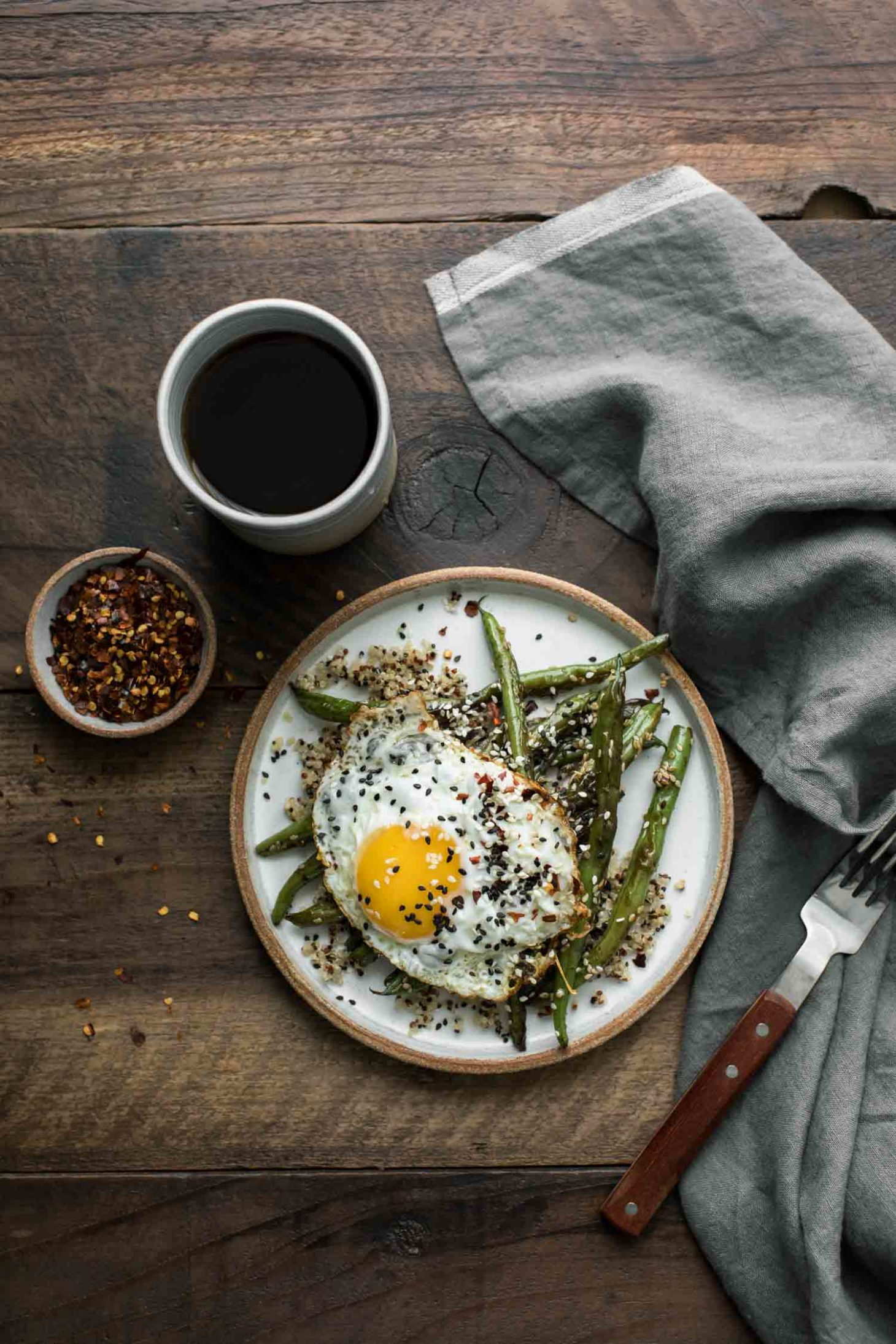 Sesame Green Beans with Eggs | Naturally Ella