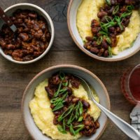 Smoky Beans and Polenta