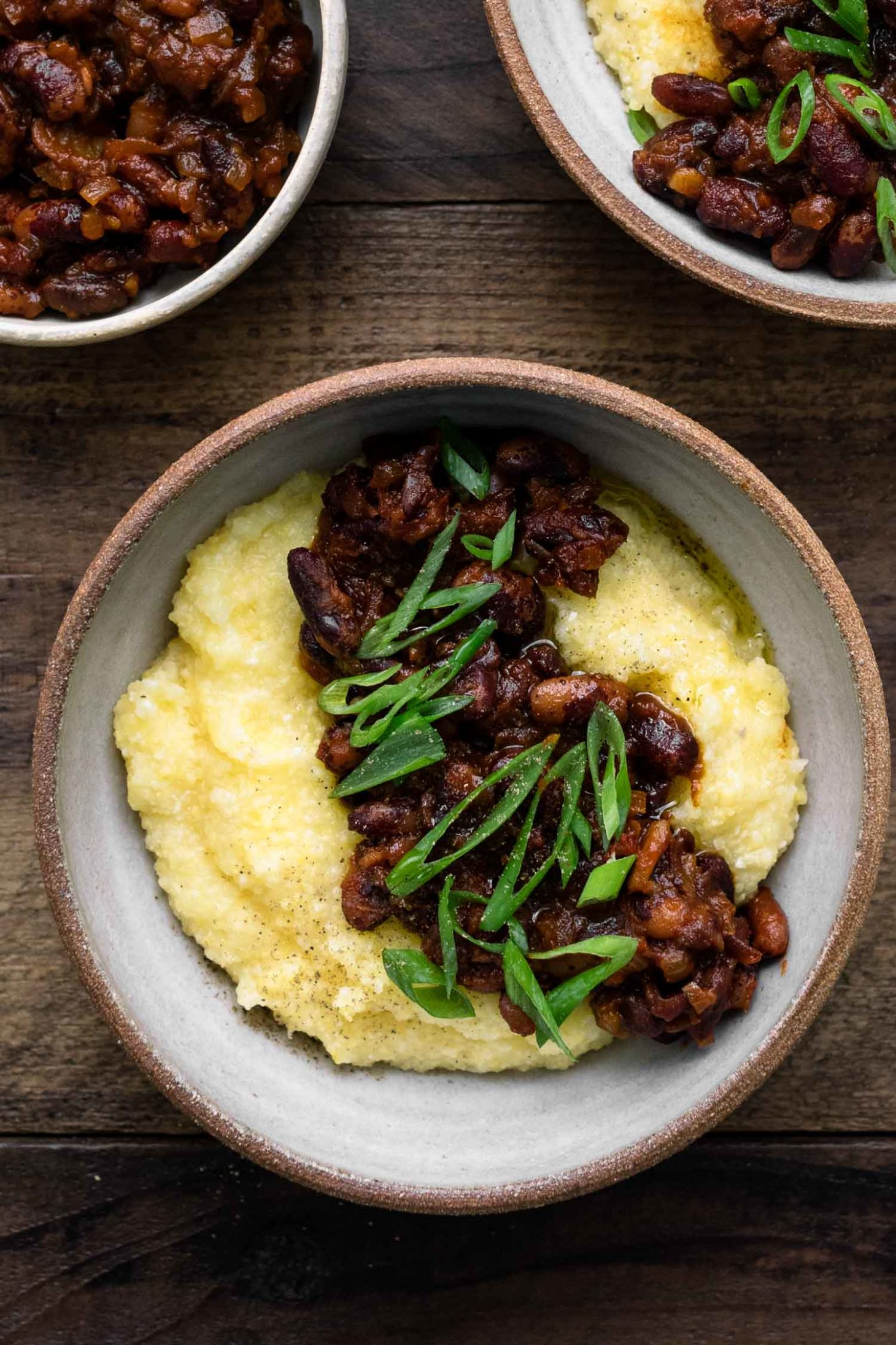 Smoky Beans and Polenta using Jacob's Cattle Beans