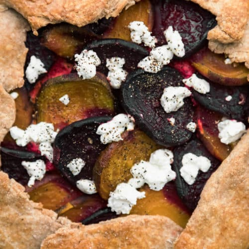 Roasted Beet Galette with Ricotta | Naturally Ella