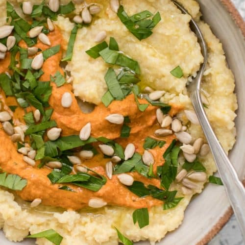 Millet Polenta with Romesco | Naturally Ella