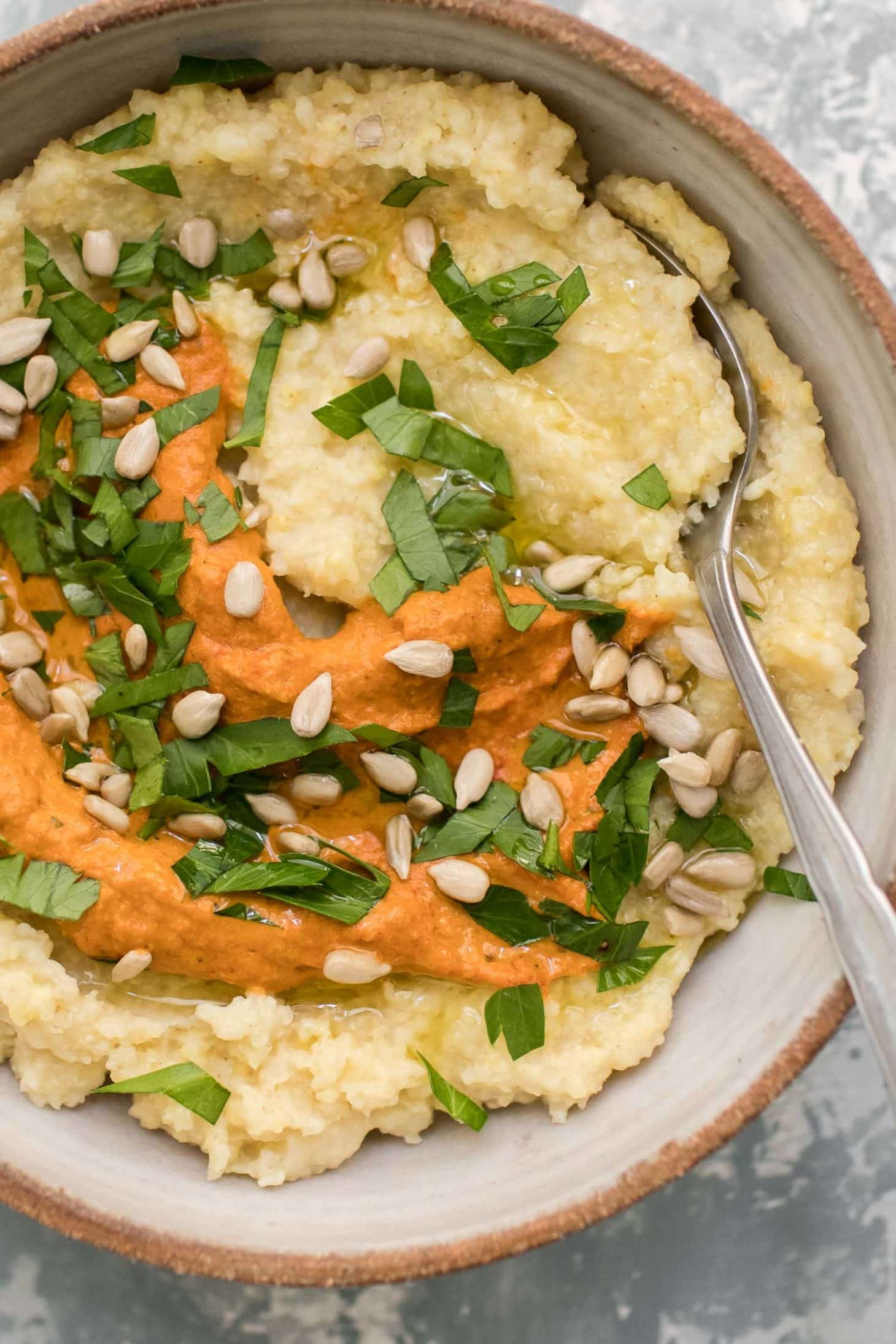 Millet Polenta with Romesco