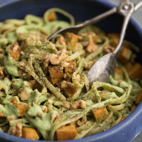 Sweet Potato Pasta with Walnut-Sage Sauce | Naturally Ella