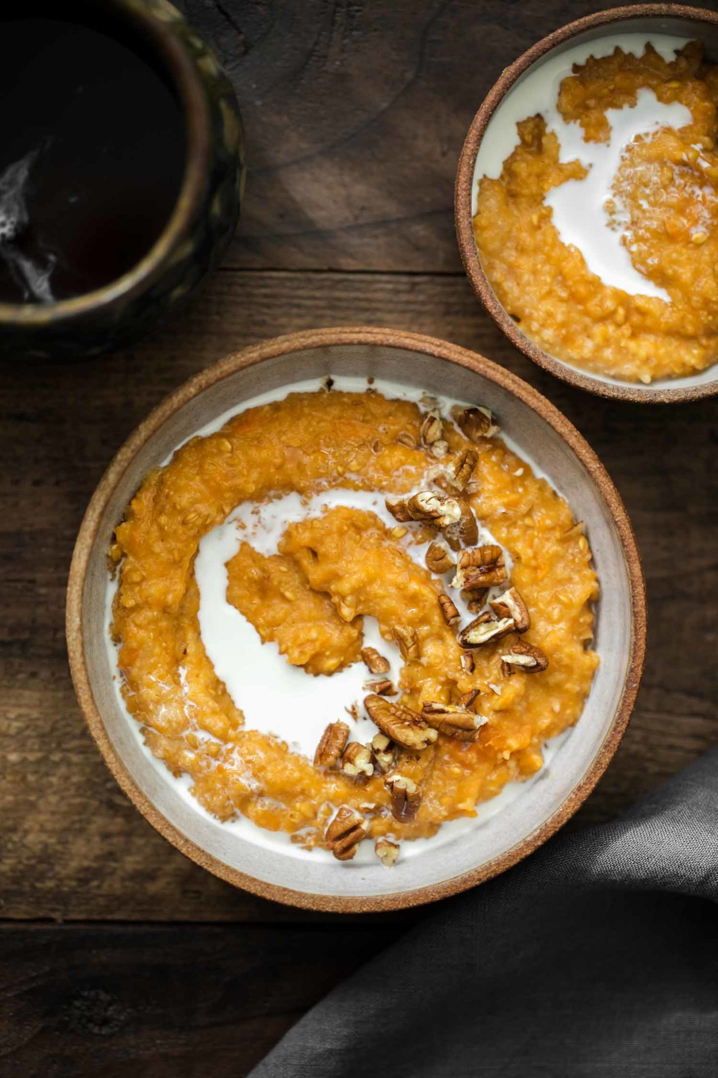 Sweet Potato Einkorn Porridge | Naturally Ella